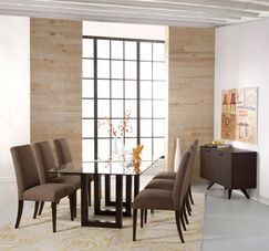 Reesa Dining Table Base Color: Walnut, Size: 29