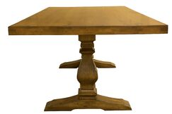 Dedrick Maple Solid Wood Dining Table Color: Distressed Walnut, Size: 29.75