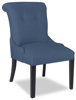 Divine Vanessa Upholstered Dining Chair Upholstery Color: Me Navy