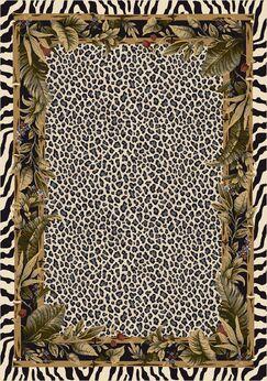 Signature Jungle Safari Snow Leopard Area Rug Rug Size: Rectangle 7'8