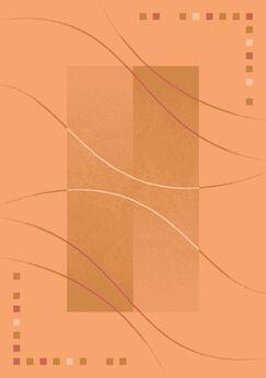 Pastiche Caliente Flaxen Orange Area Rug Rug Size: Oval 3'10