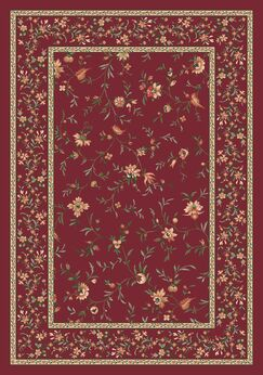 Pastiche Hampshire Floral Rust Rug Rug Size: Round 7'7