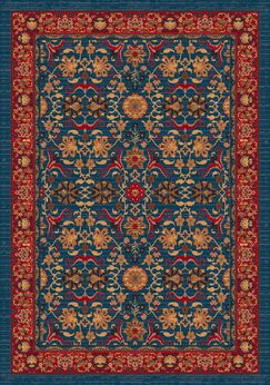 Pastiche Kamil Blue Grey Rug Rug Size: Square 7'7