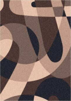 Modern Times Element Dark Brown  Area Rug Rug Size: Oval 5'4
