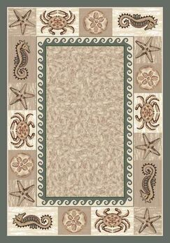 Signature Sea Life Light Aqua Area Rug Rug Size: Rectangle 7'8