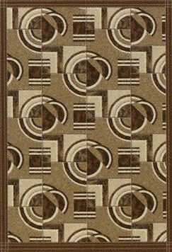 Pastiche Modernes Cafe Creme Area Rug Rug Size: Octagon 7'7