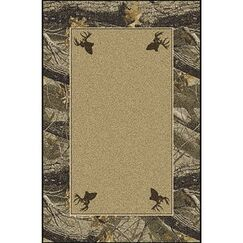 Realtree Hardwoods Solid Center Area Rug Rug Size: Rectangle 5'4