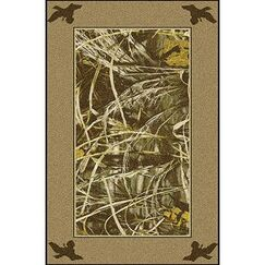 Realtree Max 4 Solid Border Area Rug Rug Size: Rectangle 3'10
