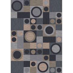 Pastiche Rialto Grey Area Rug Rug Size: Octagon 7'7