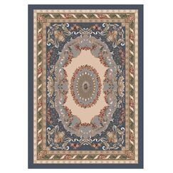Pastiche Kashmiran Marquette Pewter Area Rug Rug Size: Rectangle 2'1