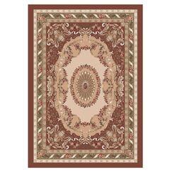 Pastiche Kashmiran Marquette Red Clay Area Rug Rug Size: Oval 5'4