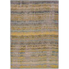 Alcaraz Distressed Stripe Yellow/Gray Area Rug Rug Size: Rectangle 4' x 5'9