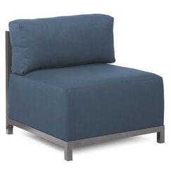 Woodsen SideChair Upholstery: Polyester - Sterling Indigo, Finish: Titanium