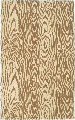 Coffee/Sand Area Rug Rug Size: Rectangle 6'7