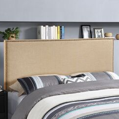 Ragnar Upholstered Foam Panel Headboard Size: Queen, Upholstery: Dark Brown