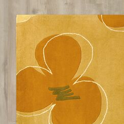 Chidi Hand-Tufted Gold / Assorted Area Rug Rug Size: Rectangle 5' x 8'