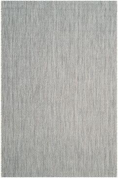 Mullen Gray / Navy Indoor/Outdoor Area Rug Rug Size: Rectangle 4' x 5'7