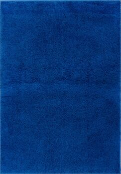 Reynolds Plain Solid Dark Blue Area Rug Rug Size: 6'7