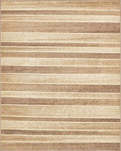 Bryan Beige Striped Area Rug Rug Size: Rectangle 8' x 10'