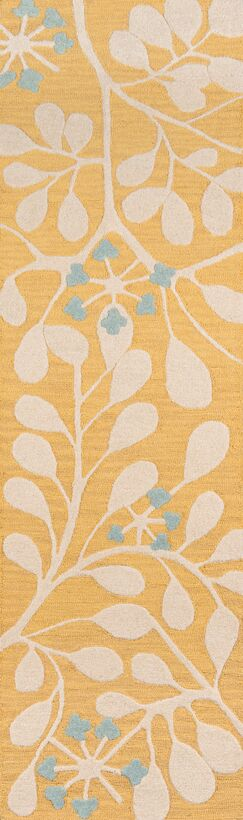 Dominick Hand-Tufted Gold Area Rug Rug Size: Runner 2'3