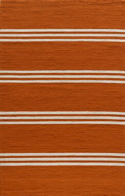 Dreadnought Tangerine Area Rug Rug Size: Rectangle 2' x 3'