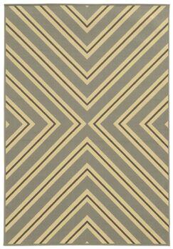 Heath Grey/Ivory Indoor/Outdoor Area Rug Rug Size: Rectangle 7'10