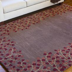 Shanna Chocolate Area Rug Rug Size: Square 9'9