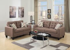 Cassandra 2 Piece Living Room Set Upholstery: Coffee Tan