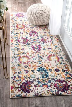 Julia Yellow/White Area Rug Rug Size: Runner 2'8