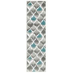 Grace Gray/Light Blue Area Rug Rug Size: Runner 2' x 7'7
