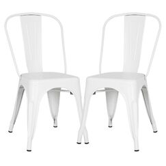 Alyssa Dining Chair Color: White