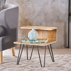 Savner Wood Coffee Table with Tray Top