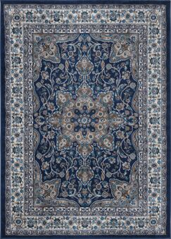 Tremont Blue Area Rug Rug Size: 9'2