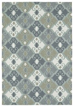 Cavour Traditional Handmade Pewter Green Indoor / Outdoor Area Rug Rug Size: Rectangle 8' x 10'