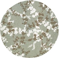 Mccall Willow Branch Hand-Woven Sage Indoor/Outdoor Area Rug Rug Size: Round 7'10