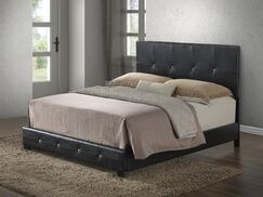 Newbury Upholstered Panel Bed Color: Black, Size: King
