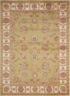 Winthrop Green/Red Area Rug Rug Size: Rectangle 7'10