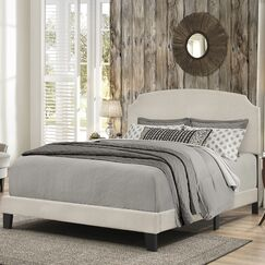 Greensburg Upholstered Panel Bed Size: King, Color: Linen
