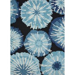 Breonna Hand Woven Blue Indoor/Outdoor Area Rug Rug Size: Rectangle 9' x 12'
