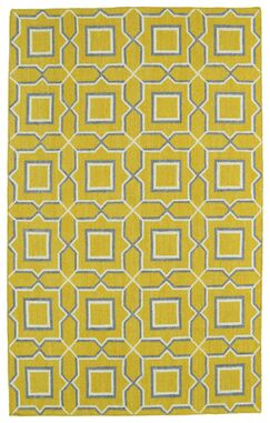 Christien Yellow Geometric Area Rug Rug Size: Rectangle 3'6