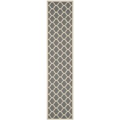Short Gray IndoorOutdoor Area Rug Rug Size: Rectangle 2'7