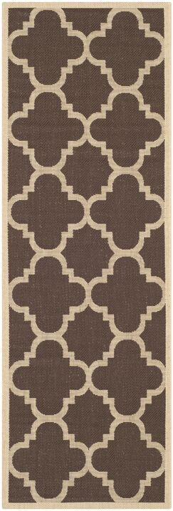 Short Dark Brown Outdoor Area Rug Rug Size: Runner 2'3