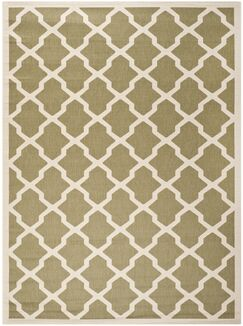 Short Green/Beige Outdoor Loomed Area Rug Rug Size: Rectangle 8' x 11'
