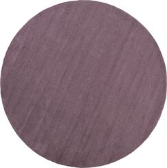Naples Hand Woven Mauve Area Rug Rug Size: Round 6'