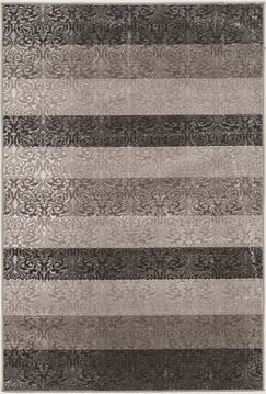 Madalyn Damask Stripes Gray Area Rug Rug Size: Rectangle 8' x 10'3