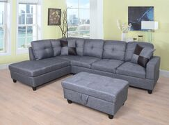 Sectional with Ottoman Orientation: Left Hand Facing