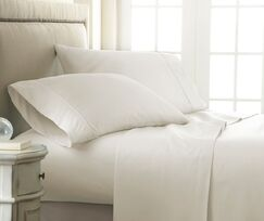 Canning Checkered Sheet Set Size: Queen, Color: Ivory