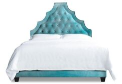 Lexi Upholstered Platform Bed Size: California King, Color: Turquoise