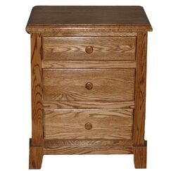 Artimacormick 3 Drawer Nightstand Color: Golden Oak