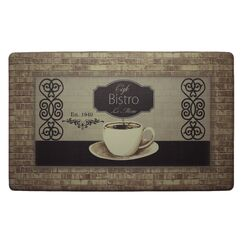 Café Bistro Kitchen Mat Mat Size: Rectangle 1'8